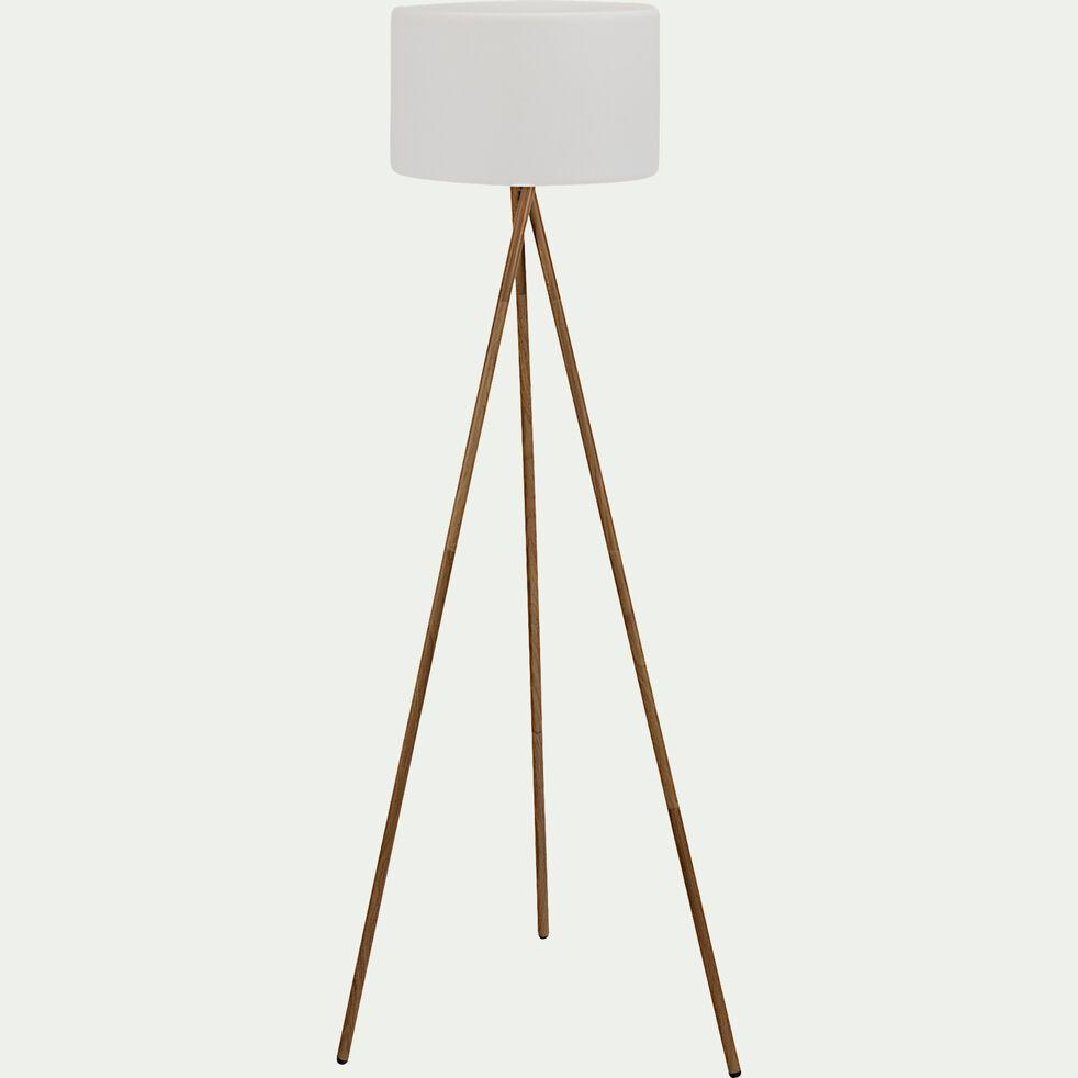 Lampadaire d'extérieur nomade - blanc H155xD40cm-TAMBOURY