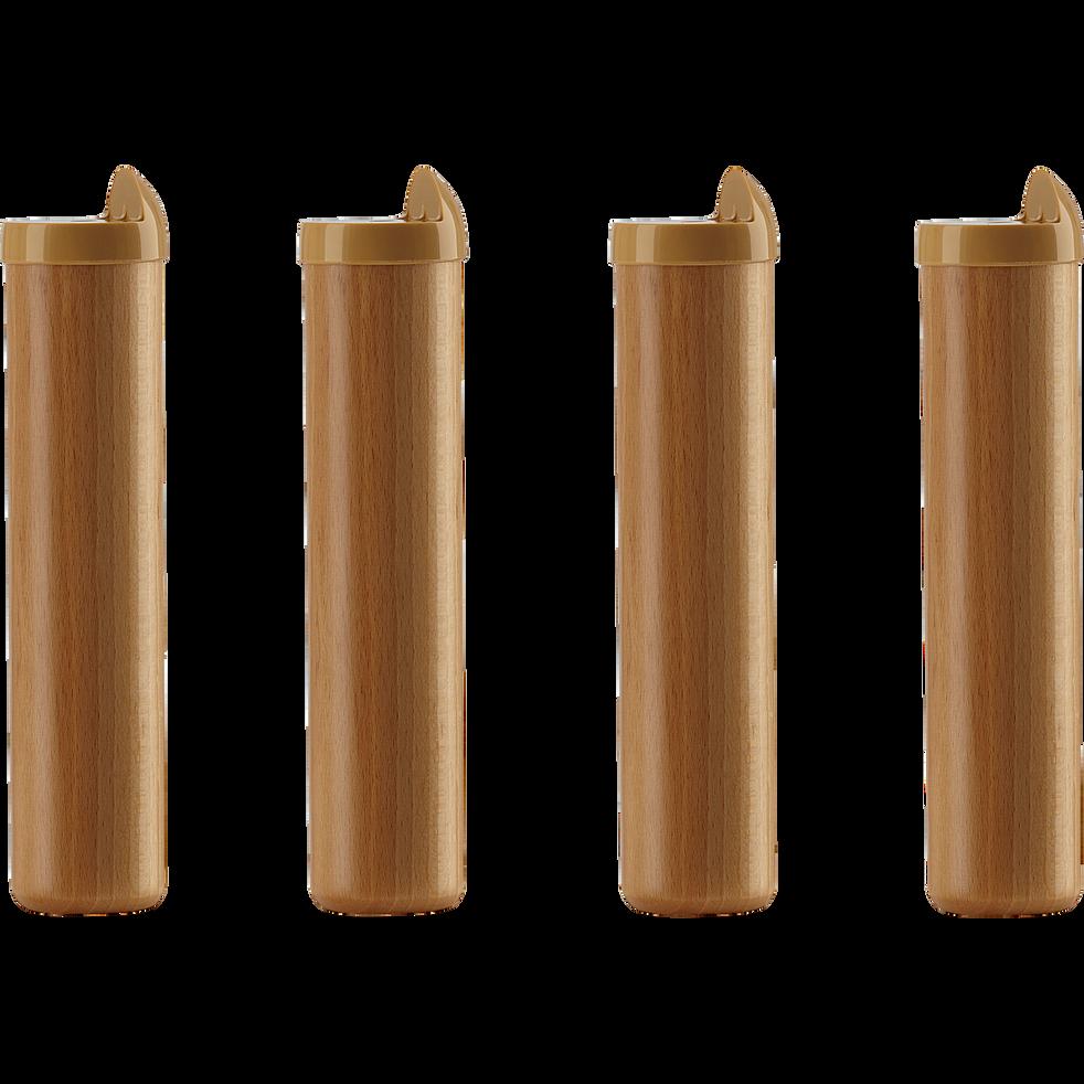91a34c60849c1 Pieds de sommier cadre à lattes en hêtre massif H22cm (jeu de 4 ...