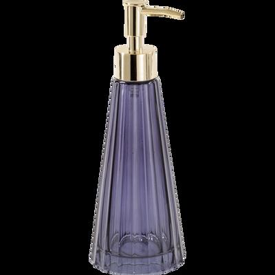 Distributeur de savon en verre bleu-LILAS