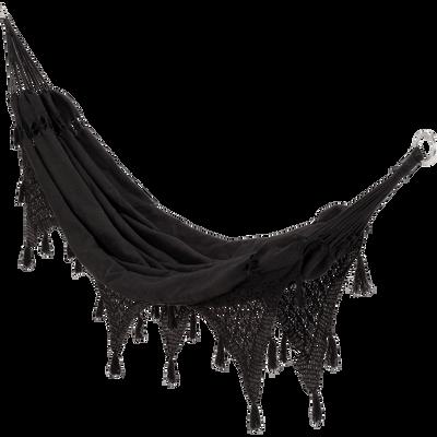 Hamac en tissu noir (1 personne)-INES