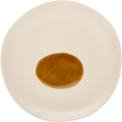 Assiette plate en porcelaine blanche D25cm-PLEIADE