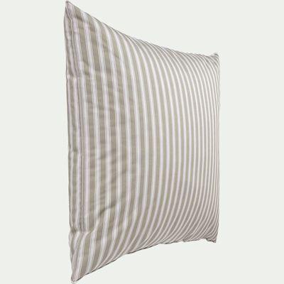 Oreiller naturel en plumes et enveloppe 100% coton - 60x60 cm-Vintage