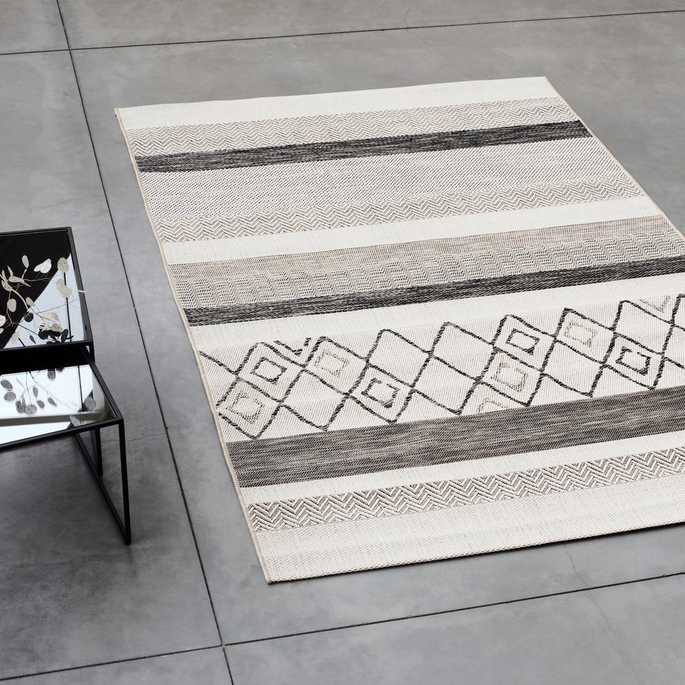 tapis ext rieur et int rieur gris motifs 160x230cm euphorie 160x230 cm grands tapis de. Black Bedroom Furniture Sets. Home Design Ideas