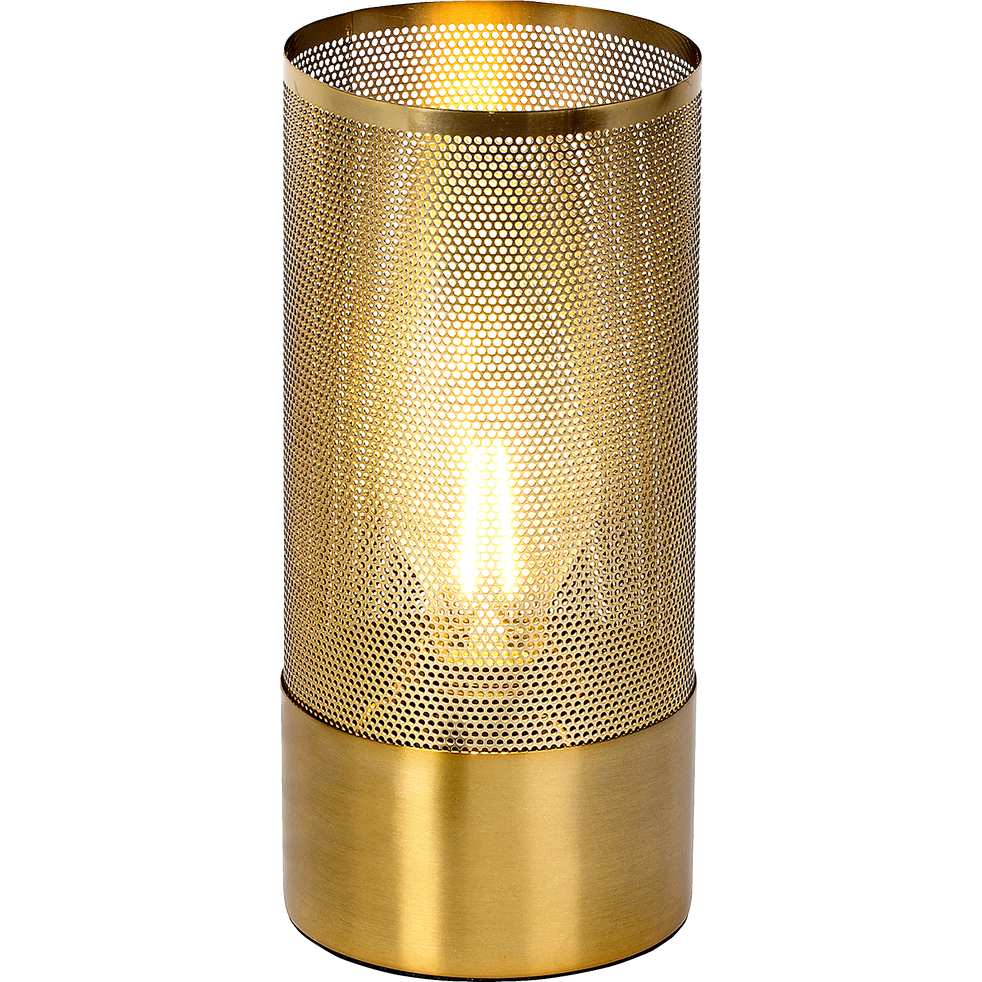 Lampe à poser en laiton brossé H27cm-GRACIAN