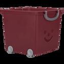 Bac de rangement 25L rouge sumac-ZACCHARIE