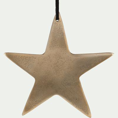 Suspension étoile dorée H15cm-ALESIA