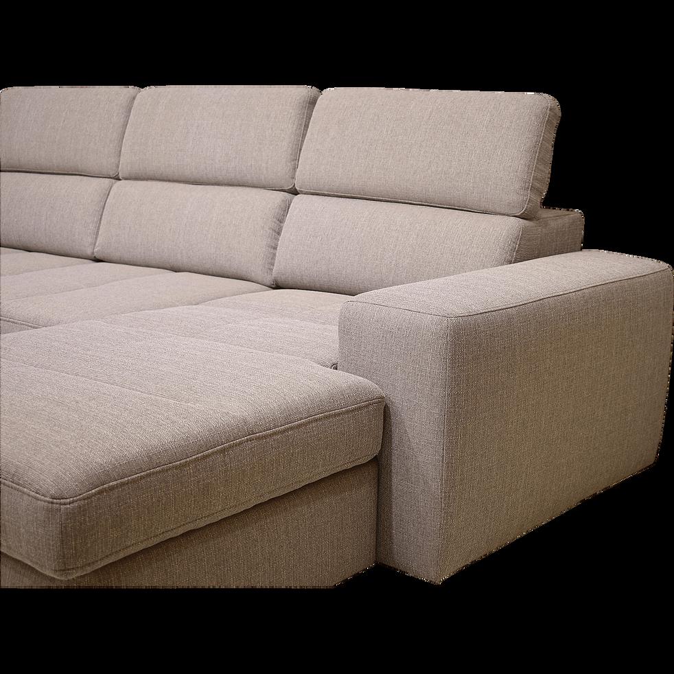 canap d 39 angle en u convertible en tissu gr ge avec. Black Bedroom Furniture Sets. Home Design Ideas