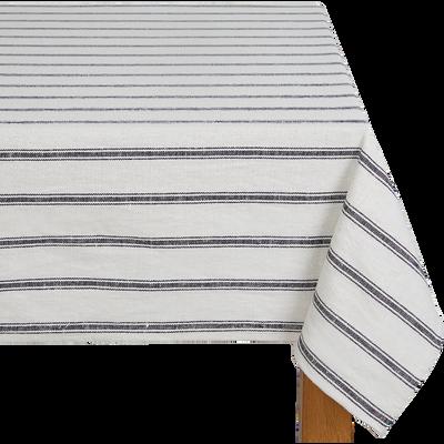 Nappe en lin et coton noir et blanc 170x170cm-PASSO