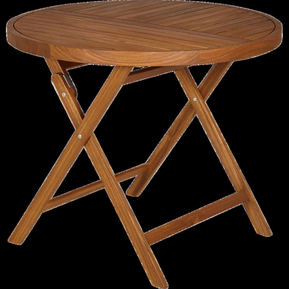 table de jardin pliante en acacia 4 places youk. Black Bedroom Furniture Sets. Home Design Ideas
