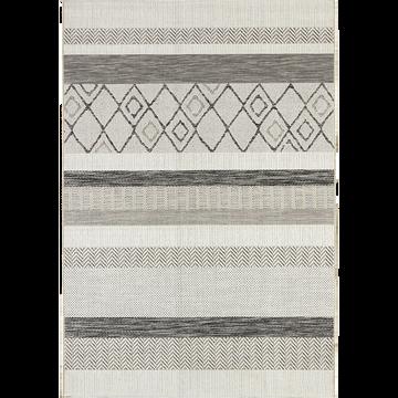 Tapis extérieur et intérieur gris à motifs 200x290cm-EUPHORIE