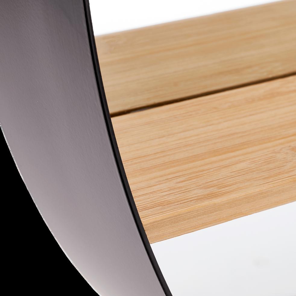 Miroir rond avec plateau en bambou D60cm-COLETTE