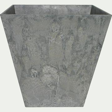 Pot à réserve d'eau - gris H34cm-Ella