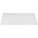 Plateau de bureau en verre Transparent - 75x150 cm-MIRO