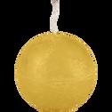 Bougie ronde beige nèfle D6cm-BEJAIA