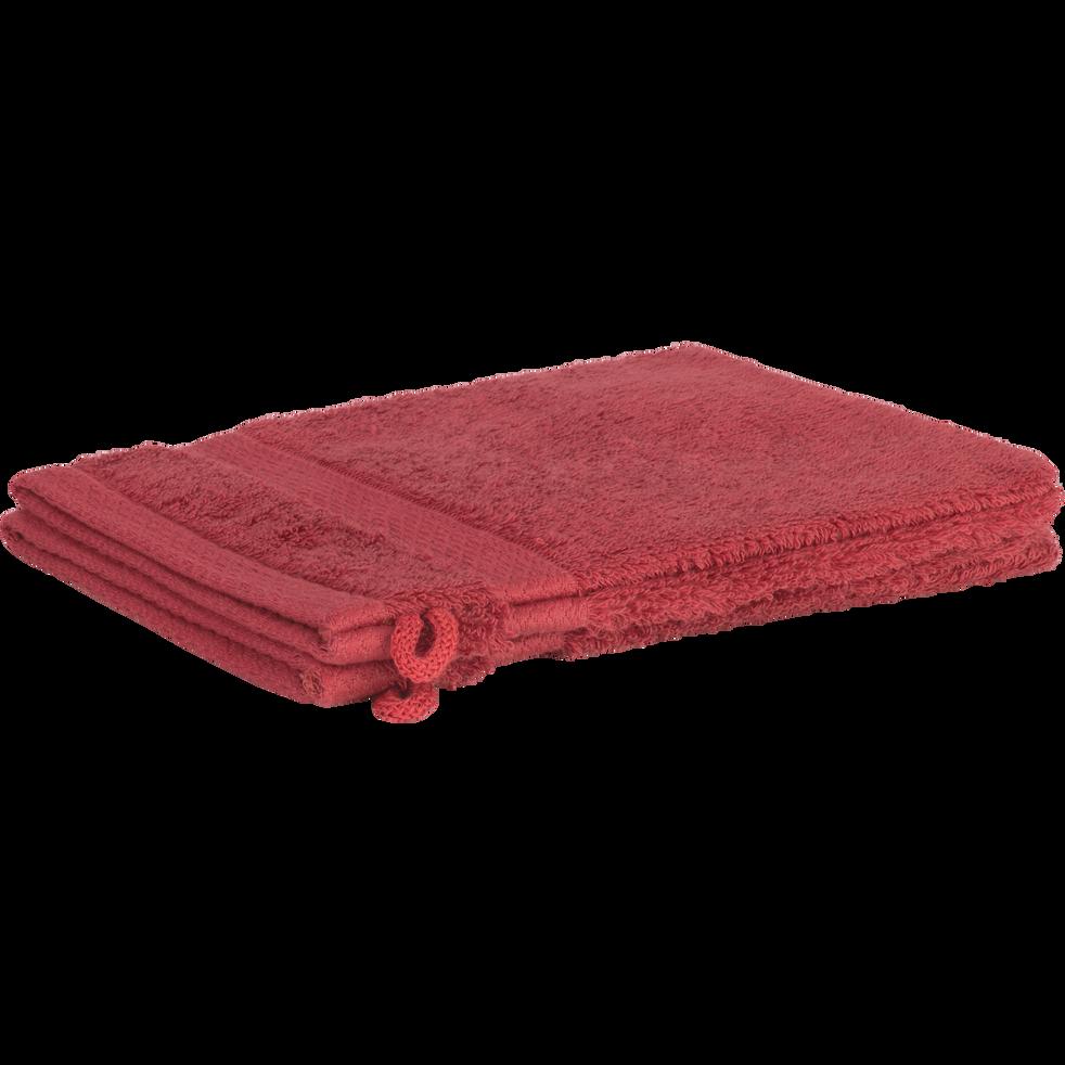 Lot de 2 gants en coton rouge arbouse-AZUR