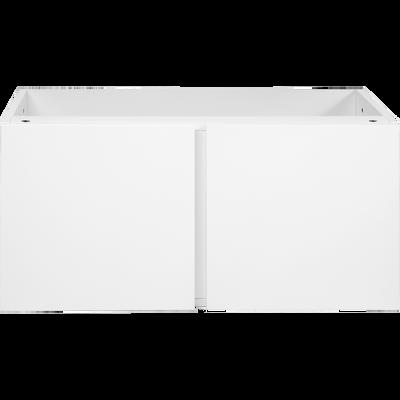 Bloc de 2 portes blanches L75cm-Lorena