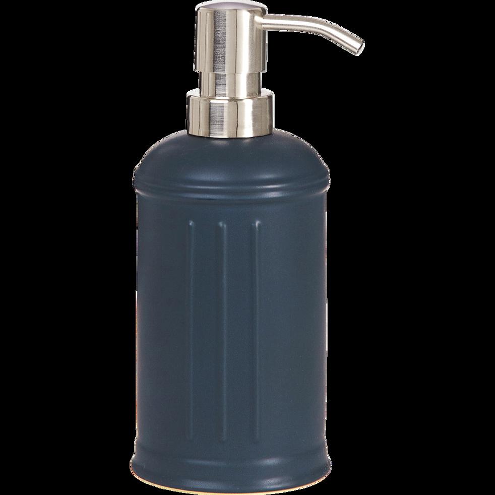 Distributeur de savon en céramique noir-MECA
