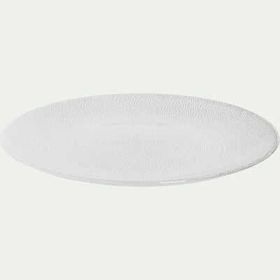 Assiette à dessert en verre strié D21cm-ATENA