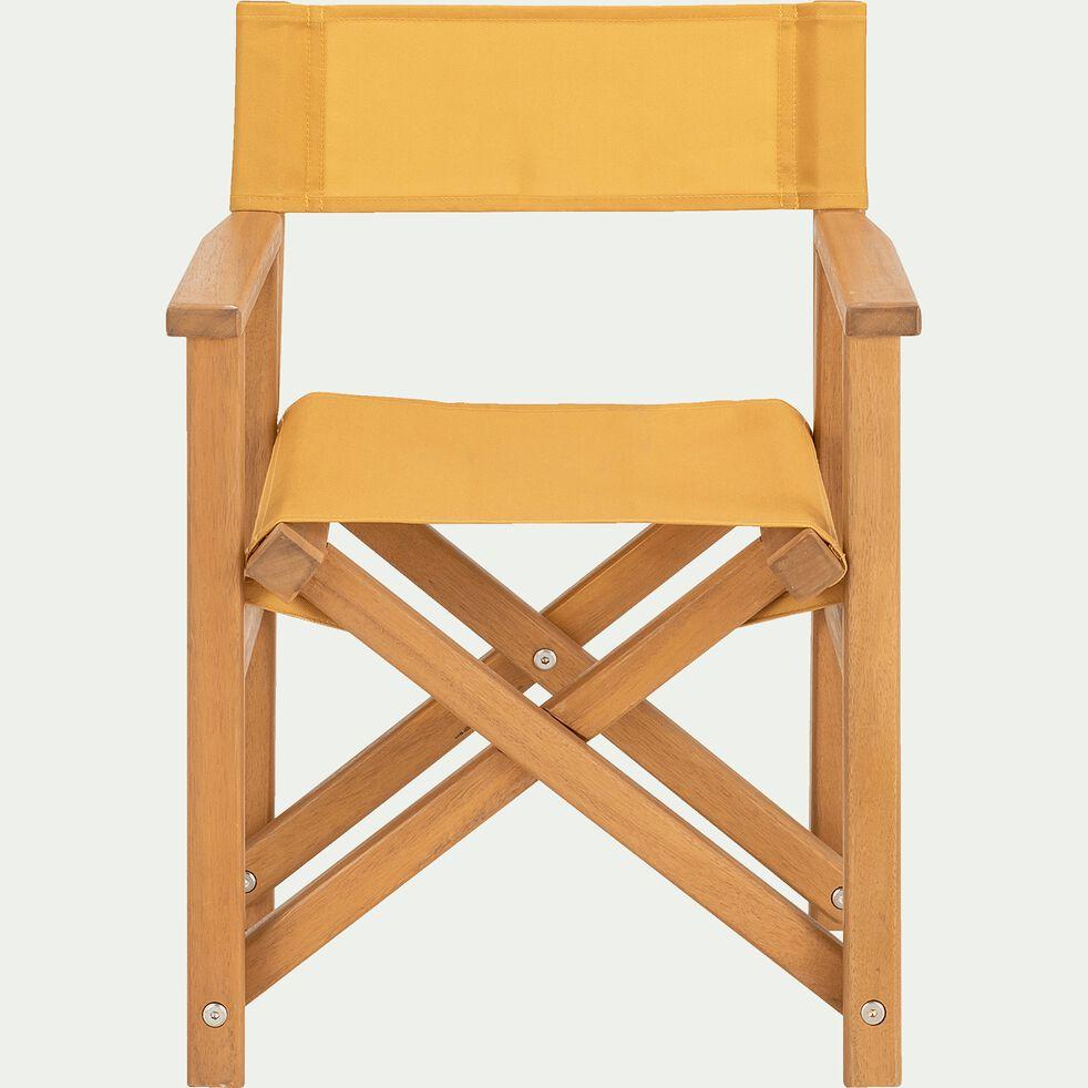 Chaise de casting enfant en acacia - jaune millepertuis-Luz