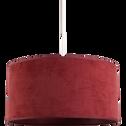 Suspension non électrifiée en velours rouge sumac D40cm-VELOURS