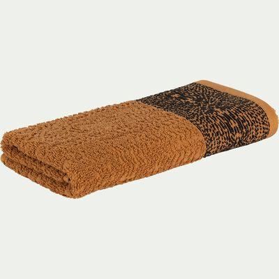 Serviette de bain en coton bouclette - marron 50x100cm-NIL