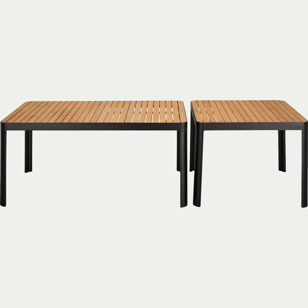 Table de jardin en aluminium et teck (2 à 4 places )-TASTA