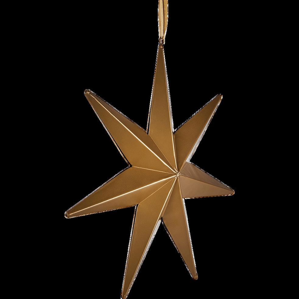 Etoile à suspendre couleur bronze D30cm-CANNAT