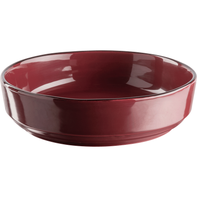 Saladier en faïence rouge sumac D24cm-LANKA