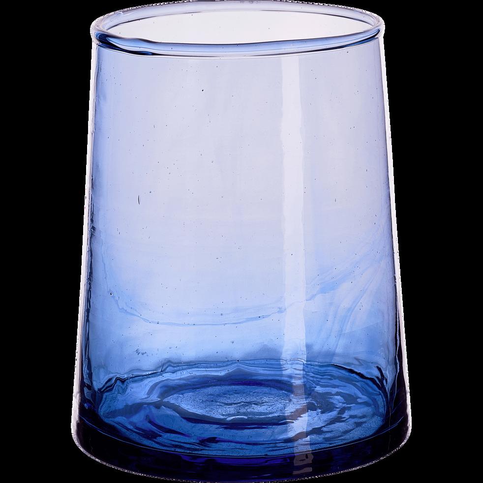 Verre bleu en verre recycl 25cl beldi verres alinea - Film transparent pour table en verre ...