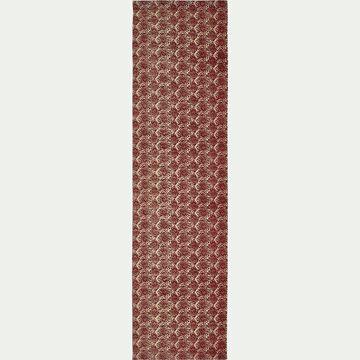 Toile de chilienne de jardin à motif amande - rouge sumac-Udine