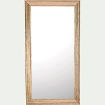 Miroir en bois de chêne strié - naturel 90x170cm-RAYA