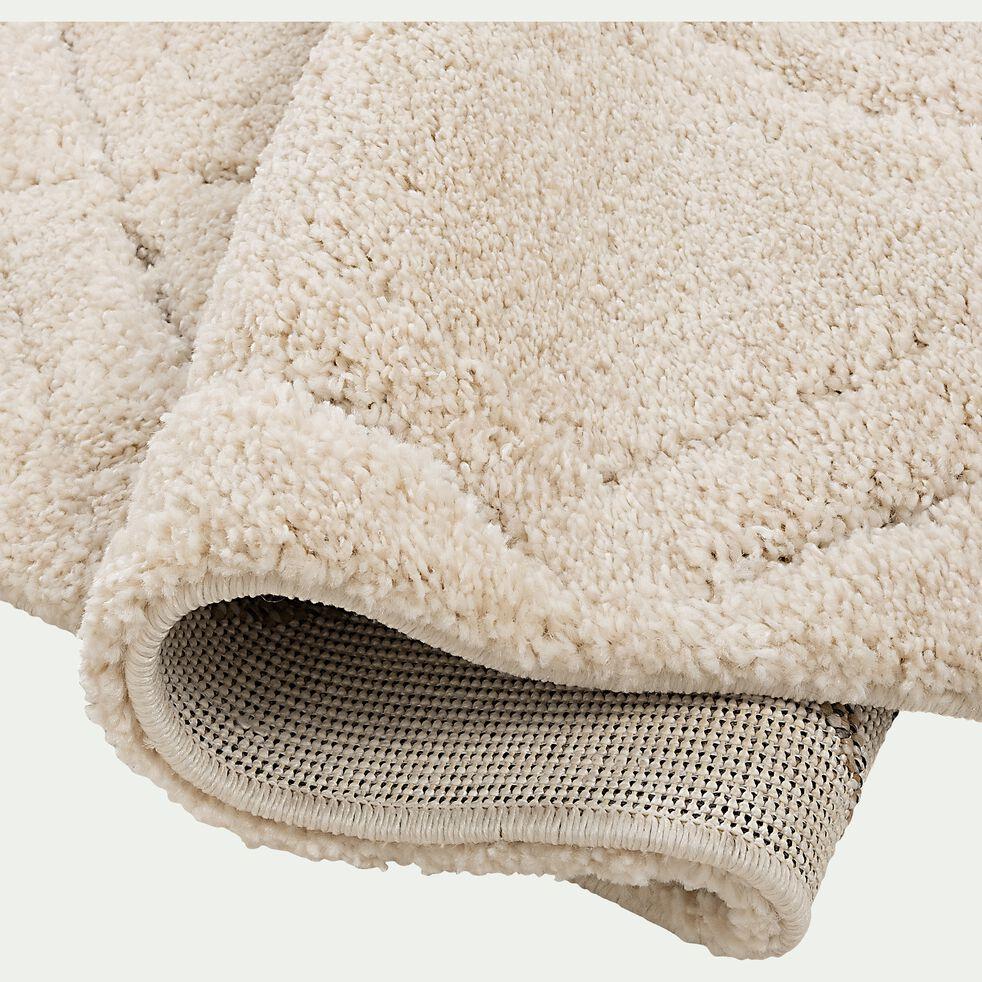 Tapis à poils longs style berbère - blanc 120x170cm-OURAIN