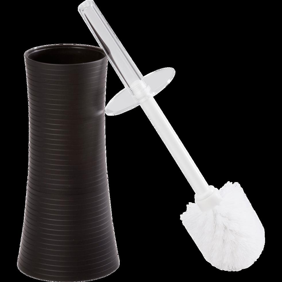 Balai et porte balai WC noir H38cm-Slup