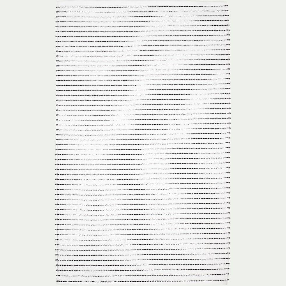 Tapis de bain en coton - blanc ventoux 50x80cm-Rhodes