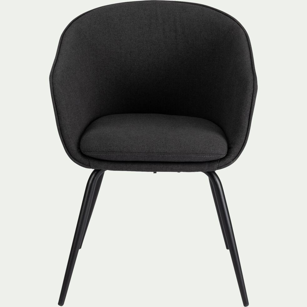 Chaise en tissu gris restanque avec accoudoirs-PELAGIE