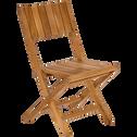 Chaise de jardin pliante en Teck-DUNE
