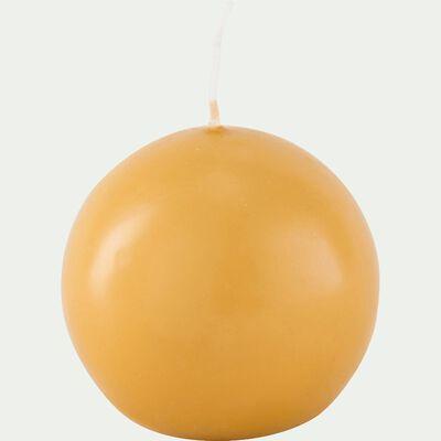 Bougie ronde beige nèfle D6cm-HALBA
