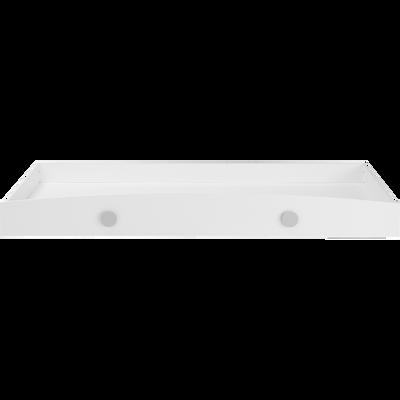 Tiroir de lit à roulettes en dérivés de bois  Blanc-CAMILLE