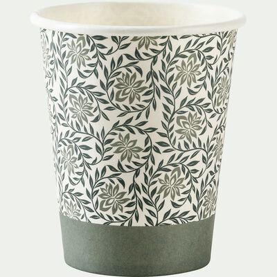 Lot de 10 verres en carton à motif jasmin 25cl-SAZE
