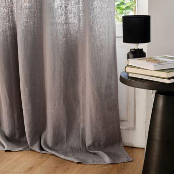 Rideau à œillets en lin lavé - gris restanque 140x280cm-VENCE