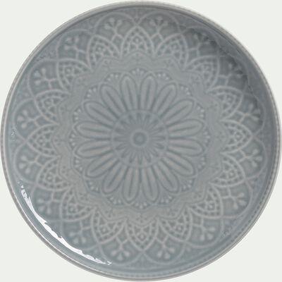 Assiette plate en faïence - D27cm gris borie-POUDHA