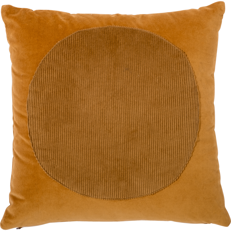 Coussin en coton camel 40x40cm-ALASSIO