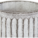 Cache-pot en fibre de ciment H15xD15 cm-Sienne