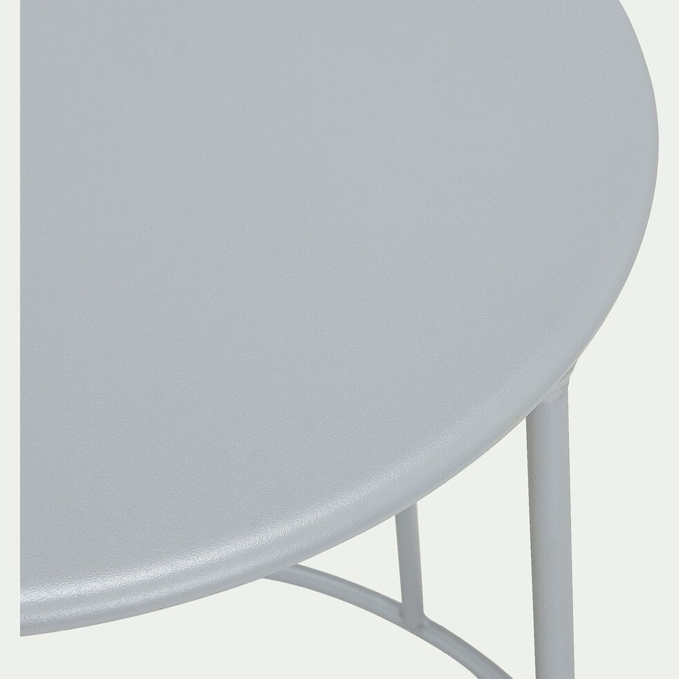 Table d'appoint de jardin - gris vesuve (D34cmxH63cm)-Ikaria