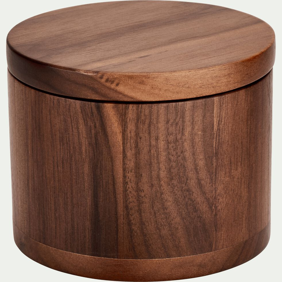 Boite en bois de noyer D10cm-FLORA