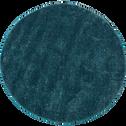 Tapis rond bleu moucheté D160cm-STESSY