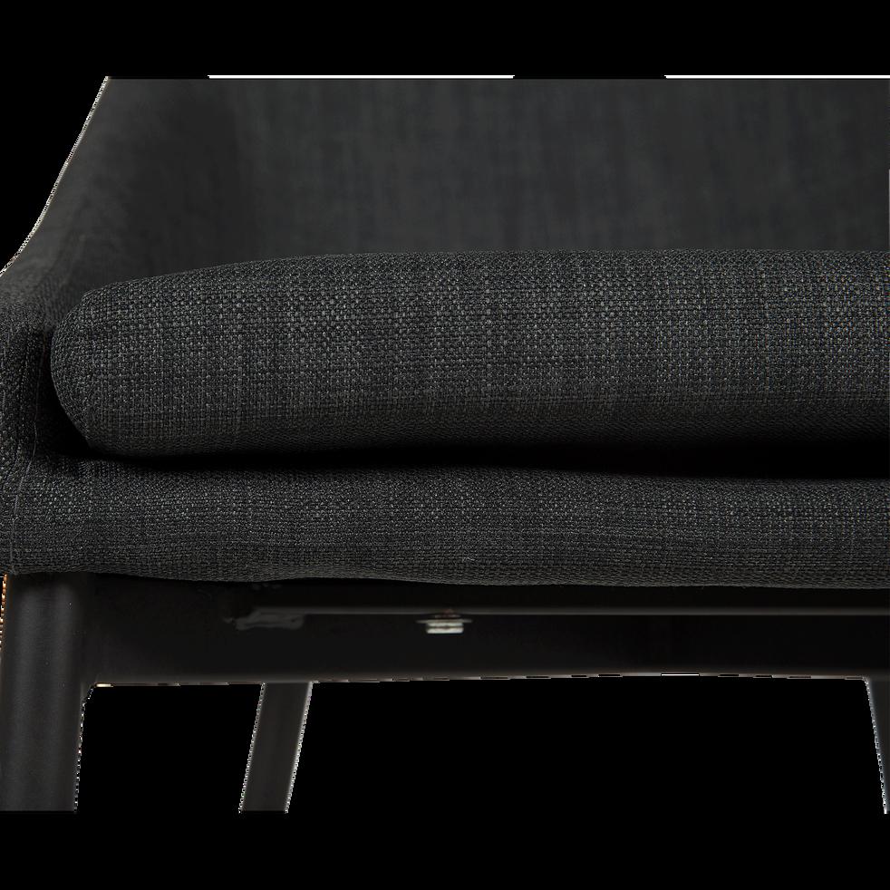 chaise hauteur plan de travail en tissu gris fonc h66cm. Black Bedroom Furniture Sets. Home Design Ideas