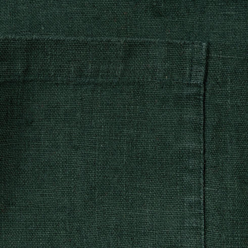 Tablier japonais en lin vert-OSAKA