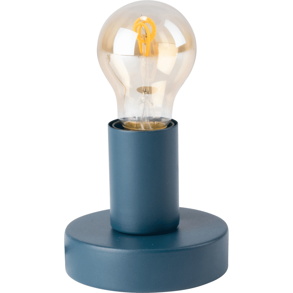 Lampe applique en métal bleu figuerolles D10xH9cm-ODERA