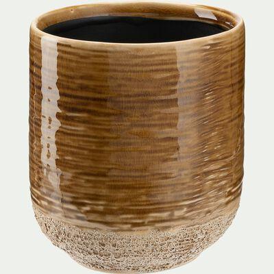 Cache-pot en céramique - miel H11xD10 cm-ISSA